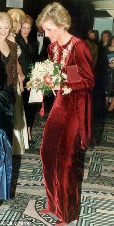 """February 7th, 1990, Prince Charles and Princess Diana attend the premiere of """"Steel Magnolias"""""""