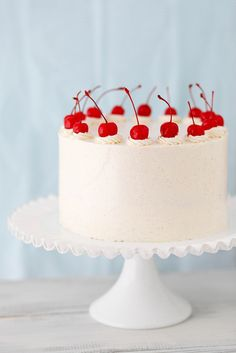 Cherry Vanilla Layer Cake | Annie's Eats... I think this might just be this year's birthday cake for yours truly! :)