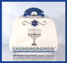 Hanukkah Purse  Hanukkah Trinket Box  Hanukkah by WhippinUpWhimsey