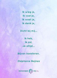 Het gedicht 'Gekoesterd' over het afscheid, het verdriet en het gemis na de dood van een geliefde. Lees meer op: http://www.rememberme.nl/gedichten-over-rouw-en-verlies/