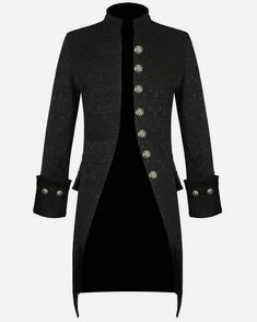 Darkrock Mens Jacket Velvet Goth Steampunk Victorian Frock Coat Handmade ~ New Ideas/Items Steampunk Jacket, Steampunk Fashion, Gothic Fashion, Gothic Steampunk, Fashion Mode, Mens Fashion, Fashion Outfits, Fashion Tips, Fashion Design