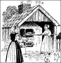 Dutch outdoor bake oven
