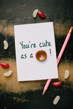 DIY Valentines Day Cards - Cute As A Button Valentine's Card - Easy Handmade Cards for Him and Her, Kids, Freinds and Teens - Funny, Romantic, Printable Ideas for Making A Unique Homemade Valentine Card - Step by Step Tutorials and Instructions for Making Cute Valentine's Day Gifts http://diyjoy.com/diy-valentines-day-cards