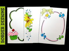 Border Designs For Projects Ppt Design, Food Design, Boarder Designs, Page Borders Design, Outline Designs, Design Room, Design Studio, Drawing Borders, Pattern Drawing