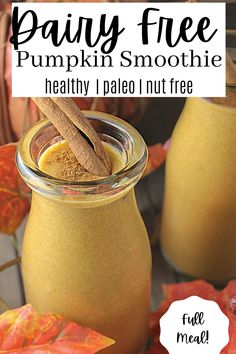 A full meal fall smoothie with all your favorite pumpkin pie flavor! Nutrient dense and good FOR you! Paleo Pumpkin Pie, Pumpkin Pie Smoothie, Healthy Pumpkin, Smoothie Prep, Vegan Smoothies, Smoothie Recipes, Paleo Recipes, Real Food Recipes, Yummy Food
