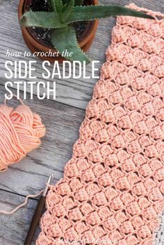 The sidesaddle cluster crochet stitch has a lovely, repetitive look that is both airy and substantial at the same time. Check out this video tutorial to learn how to do it step-by-step!