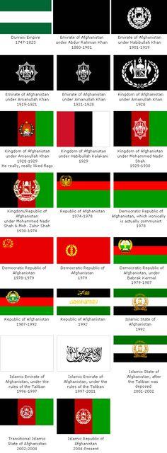 evolution of afghanistan flag