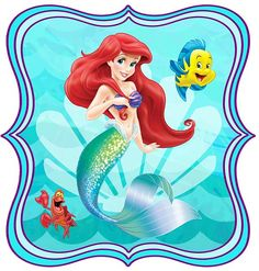 Disney Little Mermaid Birthday Banner Ariel por ColtelloDesign