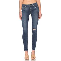 Paige Denim Verdugo Ultra Skinny Denim ($199) ❤ liked on Polyvore featuring jeans, super skinny jeans, skinny leg jeans, blue skinny jeans, skinny fit jeans and skinny jeans