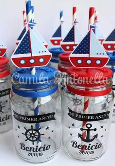 Me encantooooooo ! Sailor Baby Showers, Anchor Baby Showers, Distintivos Baby Shower, Sailor Birthday, Boat Theme, Nautical Party, Boy Birthday Parties, Baby Shower Decorations, First Birthdays