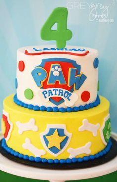 Pastel de Paw Patrol. Perfecto para una fiesta temática.#PatrullaCanina #tarta