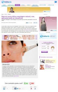 ARTIGOS / NA MÍDIA: Base em Spray - Especial para o portal Minha Vida - 15/8/2012