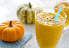 Smoothie de calabaza para el otoño smoothie amarillo naranja receta diferente