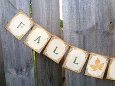 Fall in Love Banner Rustic Autumn Wedding Decoration Photo Prop by PapergirlStudios on Etsy https://www.etsy.com/listing/238808250/fall-in-love-banner-rustic-autumn