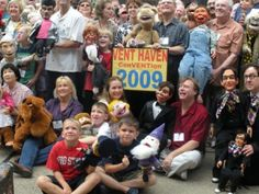Ventriloquist Convention Group Photo from 2009 | The big photo from the ConVENTion with Mark and Jodi Wade holding the sign. Above at the far right, in the red shirt, is our friend Jay Johnson and his original Mannequin American, Squeaky. When Jay appeared on the TV sit com, Soap, the network replaced Squeaky with Bob (pictured below.) That story is detailed in Jay's Tony Award Winning Broadway show, The Two and Only.
