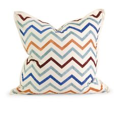IK Zola Embroidered Pillow w/ Down Fill