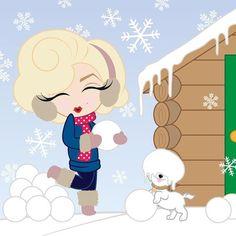 Let it snow! ❄️⛄❄️ #HelloWinter #FirstDayOfWinter #MiniMarilyn