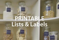 Download cool printable labels and lists for the ultimate organized home. #organizedliving #printablelabels #homeorganization