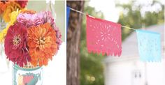 Mini-fiesta bunting & party banner☆● ☆●☆● ☆● ~Fiesta mini-bunting tutorial...