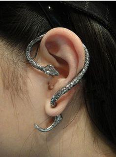 Summer Style Snake/Cat Ear Cuff Earrings Punk Earings Clip On Earrings Ear Cuffs For Women Earcuff Jewelry Clips For The Ears Snake Earrings, Snake Jewelry, Clip On Earrings, Stud Earrings, Cuff Jewelry, Jewelry Watches, Cheap Earrings, Rock Jewelry, Animal Earrings