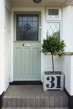 A front garden can be said as a magical garden as this is the path which guests take before they approach you. You can use your front garden to your Front Door Numbers, Front Door Plants, Front Door Colors, House Numbers, Front Door Steps, Best Front Doors, House Front Door, Cottage Style Front Doors, Front Path