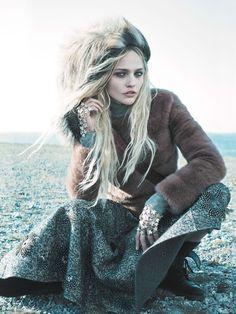 'Call Of The Wild' Sasha Pivorarova by Mikael Jansson for Vogue US September 2014 3