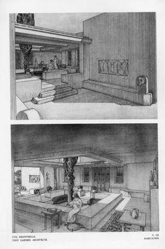 (1899-1977) Citè Industrielle - Tony Garnier Architecture Drawings, Modern Architecture, Tony Garnier, Architect Drawing, Technical Innovation, Roman City, Saint Etienne, Reinforced Concrete, Modern City
