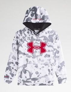 Under Armour Big Boys  UA Storm Armour® Fleece Big Logo Blocked Hoodie  Youth Small White - armour discount detox tea 6b7f57e59
