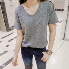 V-Neck Plain Shirt