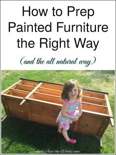 If you have ever wondered about how to prep painted furniture check out this step by step tutorial on how I prep painted furniture before picking up a paintbrush.