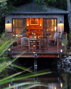 "garden house ""on the water"" - what a great look"