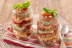 Savory Roasted Tomato, Basil and Tofu Parfait