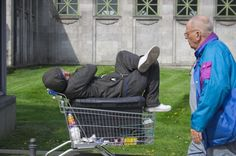 Obdachlose am Wittenberg-platz