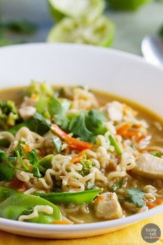 Asian Chicken Noodle Soup @FoodBlogs