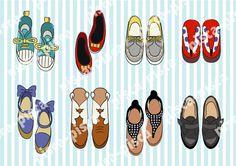 Cute shoes vector EPS10