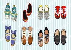 Cute shoes vector EPS10