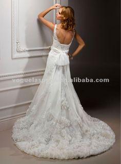 MS-Abilene Rose v-neck mermaid wedding dresses