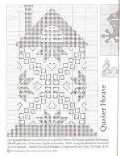 Quaker Swan,Frog and Cross Stitch House, Cross Stitch Tree, Just Cross Stitch, Cross Stitch Alphabet, Cross Stitch Samplers, Cross Stitch Charts, Cross Stitch Designs, Cross Stitching, Cross Stitch Embroidery