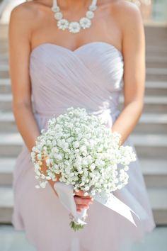 Baby's breath bridesmaid bouquet: http://www.stylemepretty.com/minnesota-weddings/minneapolis/2014/06/06/new-york-rangers-hockey-player-marries-high-school-sweetheart-in-minneapolis/ | Photography: Canary Grey - http://canarygrey.com/