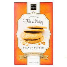 Cookies & Pastries - Thin & Crispy Peanut Butter Cookieswith Peanut Butter Chips
