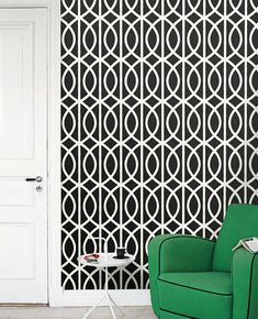Removable circle selfadhesive vinyl Wallpaper by PatPrintbyAmy. For the door?