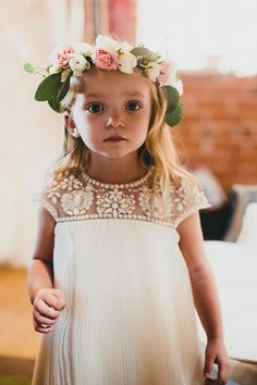 Marchesa for Target - little girl with dress and flower crown #wow #kids #style