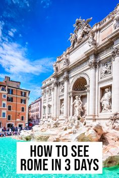 EPIC 3 day itinerary to see Rome, Italy Source by takemetorome Bags travel Italy Travel Tips, Europe Travel Guide, Rome Travel, Travel Guides, Holland, 3 Days In Rome, Italy Destinations, Italy Vacation, Italy Trip