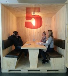 BJL Manchester huddle pods. Nice use of space and materials