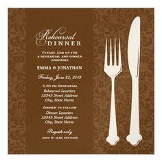 Formal Dinner Rehearsal Dinner Invitations Wedding Rehearsal Dinner Invitations   Fine Dining