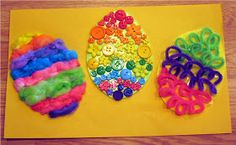 Gummy Lump Toys Blog: Textured Easter Eggs Sensory Art! Kids Easter & Spring Crafts Project #67