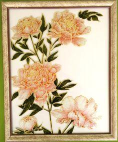 """Tableau peinture sur verre """"DOUCEUR"""" : Peintures par mamycole"""