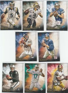 "2015 Topps Football Card ""QUARTERBACK LOT""!!  Lot Of (8)"
