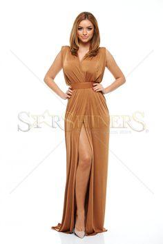 Ana Radu Divine Illusion Brown Dress