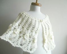 Bridal Wrap CapeletWinter and Spring Collection  by crochetlab, $68.00